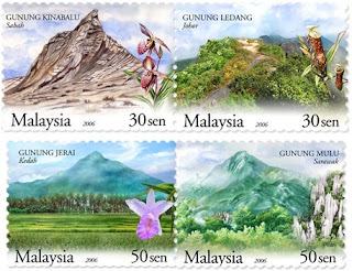 Mountains Stamps
