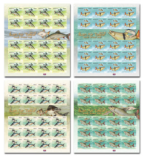 Fresh Water Fish Stamps Sheet