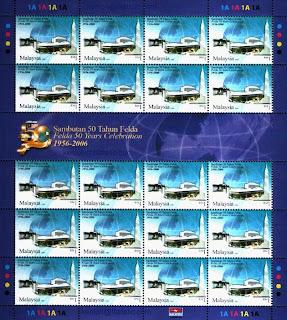 50 Years Felda RM1 Stamps Sheet