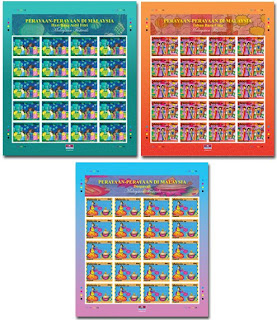 Malaysian Festivals Stamps Sheet