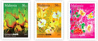 Malaysia Batik Stamp