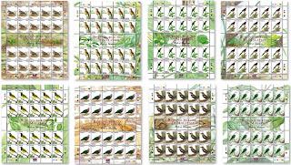 Birds O fMalaysia Stamps Sheet