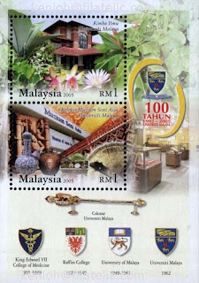 University Malaya Miniature Sheet