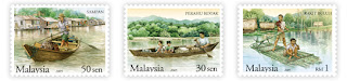 Traditional Water Transport Stamps