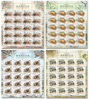 Protected Mammals Stamps Sheet