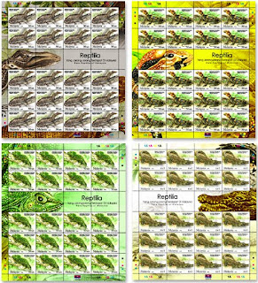 Rare Reptiles Stamps Sheet