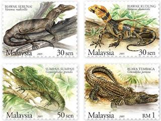 Rare Reptiles Stamps