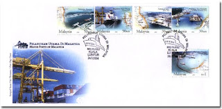Ports Of Malaysia First Day Cover