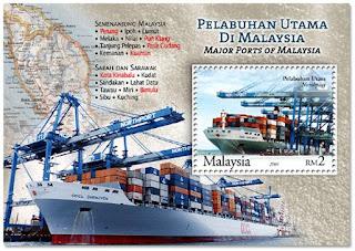Ports Of Malaysia Miniature Sheet
