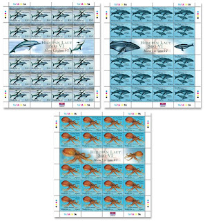 Marine Life Stamp Sheet
