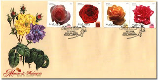 Malaysia Roses First Day Cover
