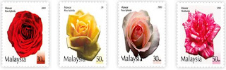 Malaysia Roses Stamps