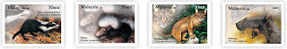 Nocturnal Animal Stamps