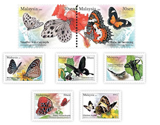 Butterflies Of Malaysia Stamps
