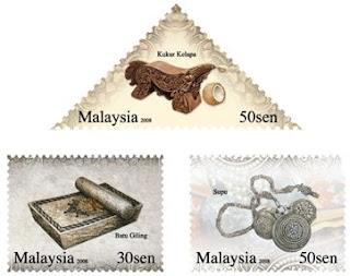 Cultural Instruments Artefacts II Stamp