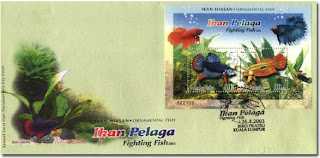 Fighting Fish First Day Cover