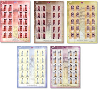 Clock Towers Stamp Sheet