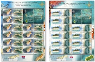 Islands Beaches Stamp Sheet