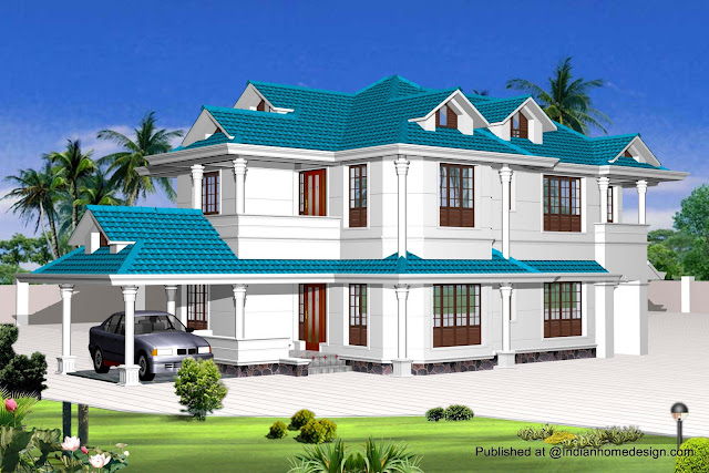 indian model house plans Exterior Views