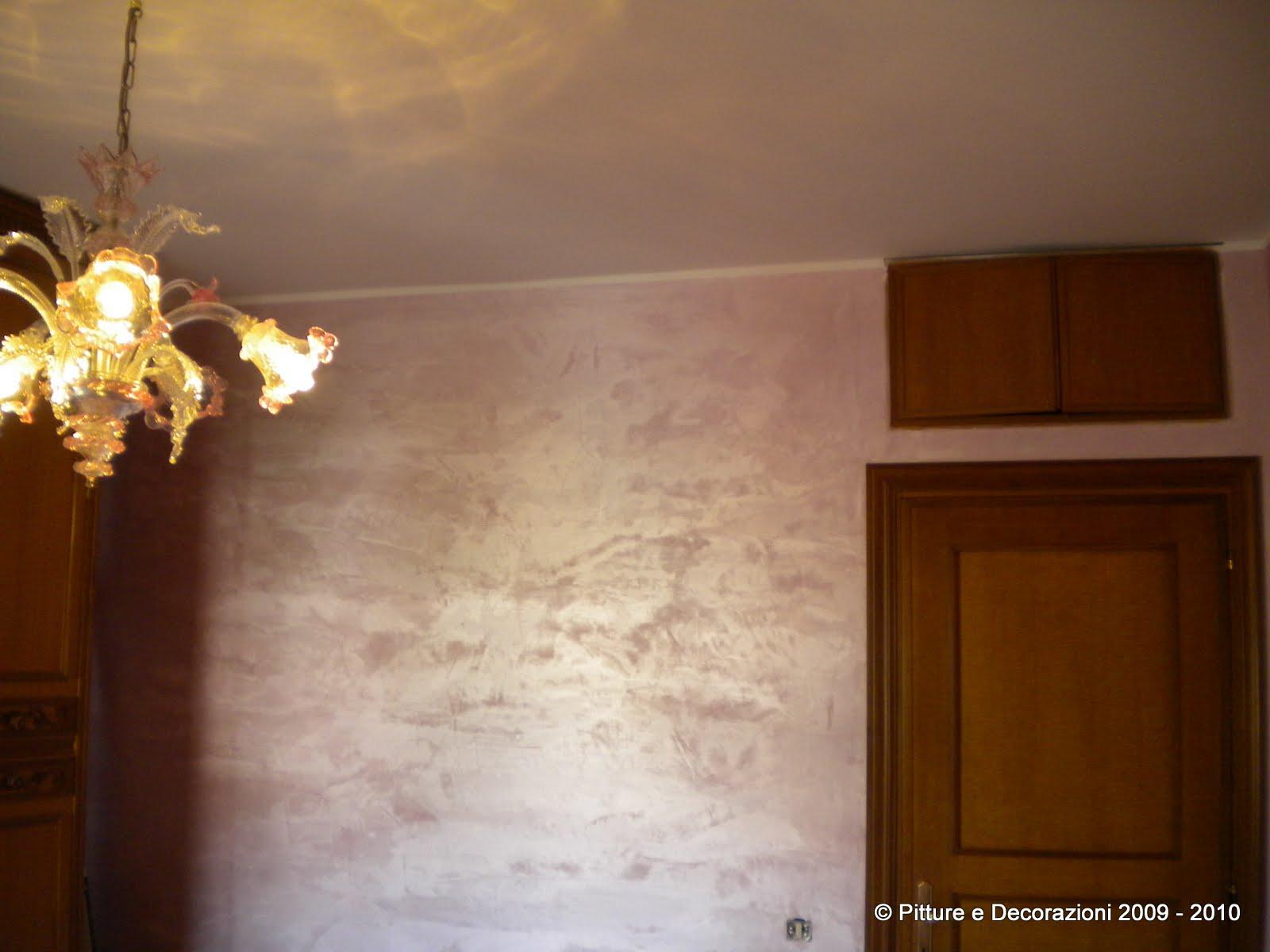 Pittura pareti camera da letto tortora decorazioni per for Pittura brillantinata oikos