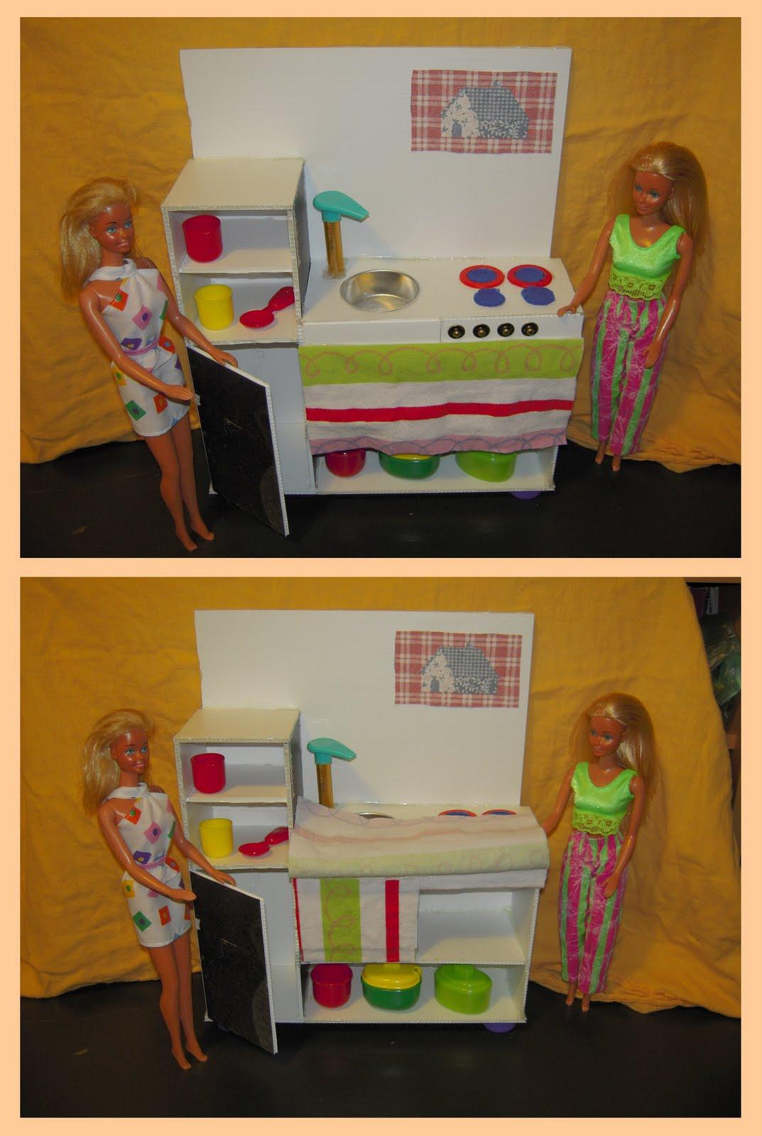 Mamma claudia e le avventure del topastro cucina per barbie for Oggetti da cucina