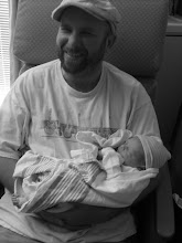 Shannon holding Ryan the day he was born