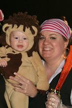 Ryan the Lion and Sarah on halloween