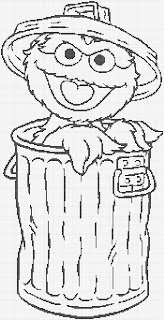 coloring pages oscar the grouch - photo#22