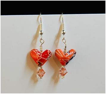 Origami Heart Earring Tutorial ~ The Beading Gem's Journal - photo#39