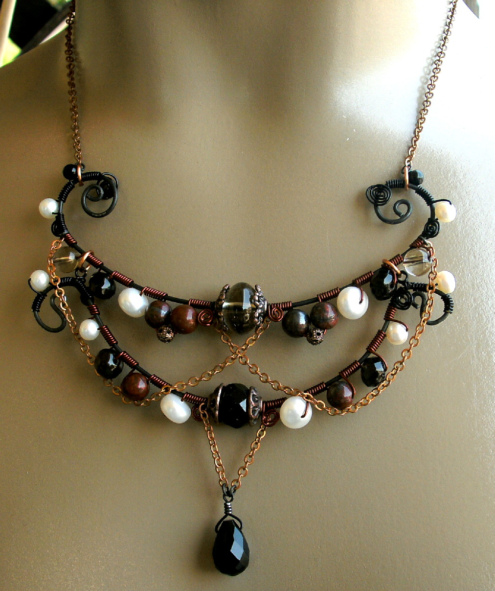 Metal Wire For Jewelry : Victor allen s awesome steel wire wrapped jewelry the