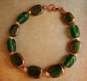 Emerald Green And Copper Bracelet What Colors Go With Copper The