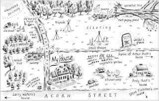 Art Words Life Monday Map Marshfield Dreams border=