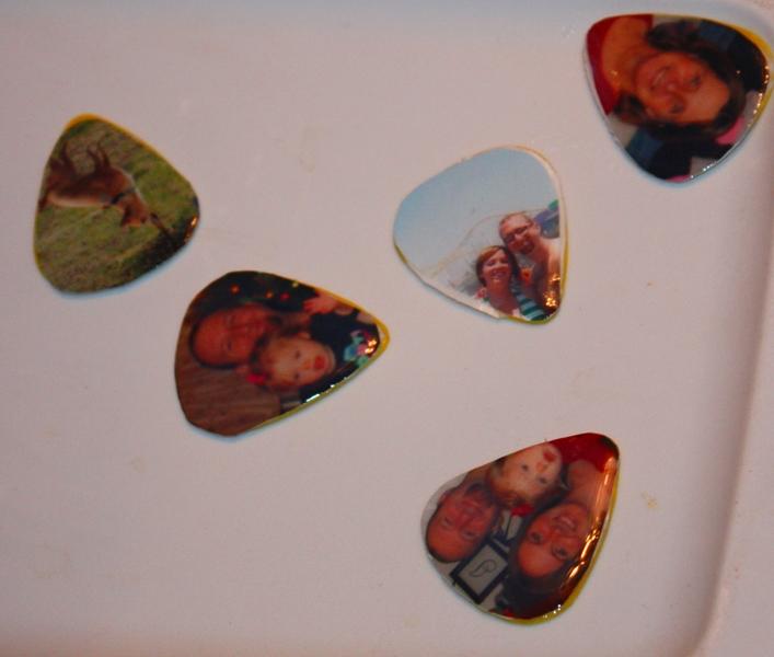 christy homemade gifts personalized guitar picks. Black Bedroom Furniture Sets. Home Design Ideas