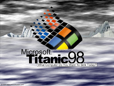 funny pic - microsoft titanic 98
