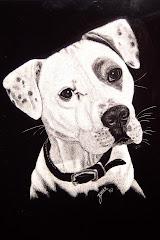 scratchboard portrait