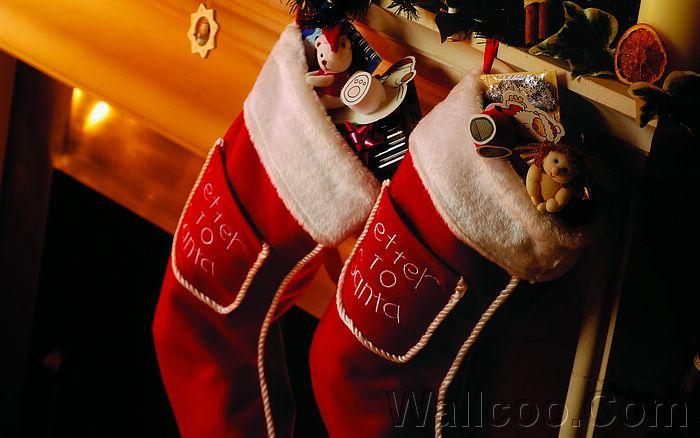 Christmas Stockings Wallpapers, Red Christmas Stocking