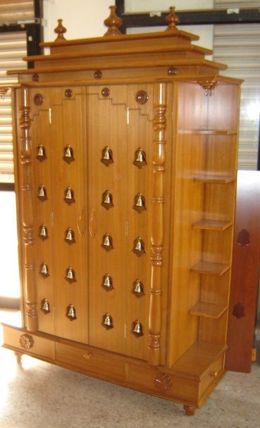 Chippendale Bangalore Pooja Cabinet