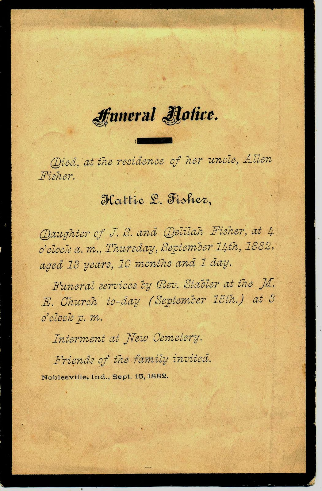 A Land of Deepest Shade: Death Memorabilia, Part 4: Funeral