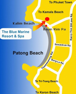 Location of Blue Marine Resort and Spa