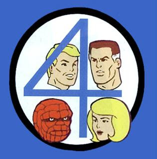 fantastic four cartoon art