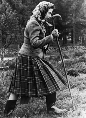 The young Queen Elizabeth wearing a  pair of Hunter wellies