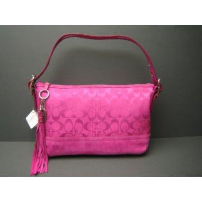coach black purse outlet xwct  Coach Handbags, Signature Soft E/W Duffle Bag PINK