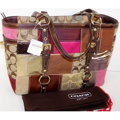 Coach Holiday Patchwork Gallery Tote 10437 Multicolor