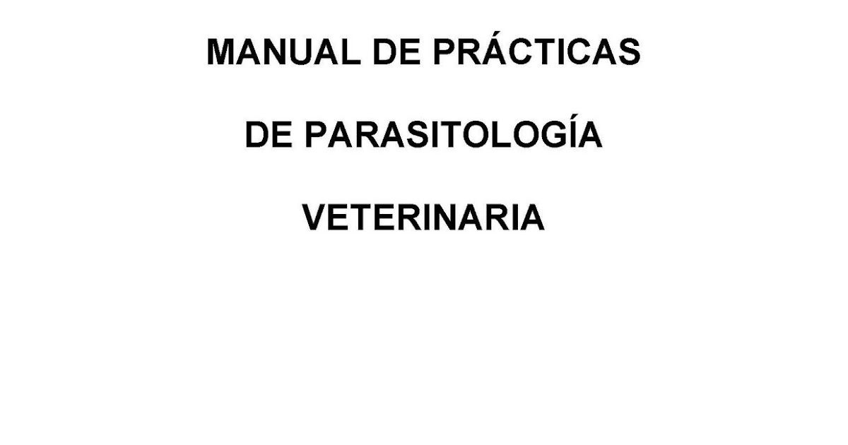 hades: Manual de Parasitologia Veterinaria/ESP