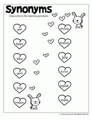 Education World: All about :Printable worksheets Synonym