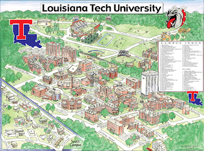 Garrison's Map Revisions: Louisiana Tech University