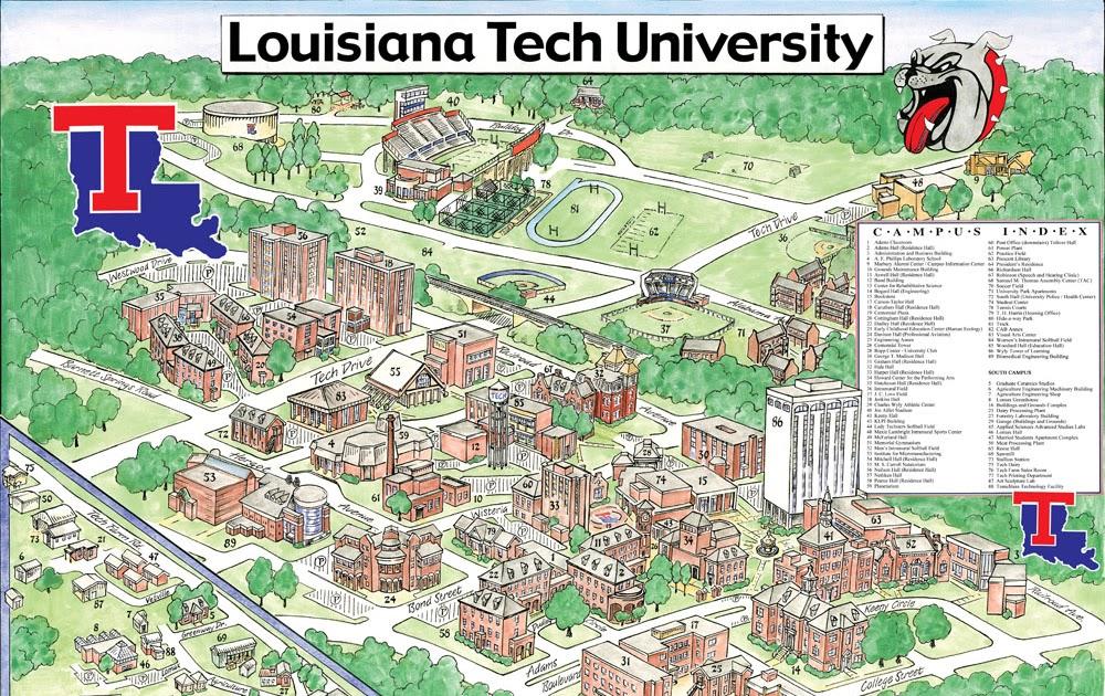 louisiana tech campus map Garrison S Map Revisions Louisiana Tech University louisiana tech campus map