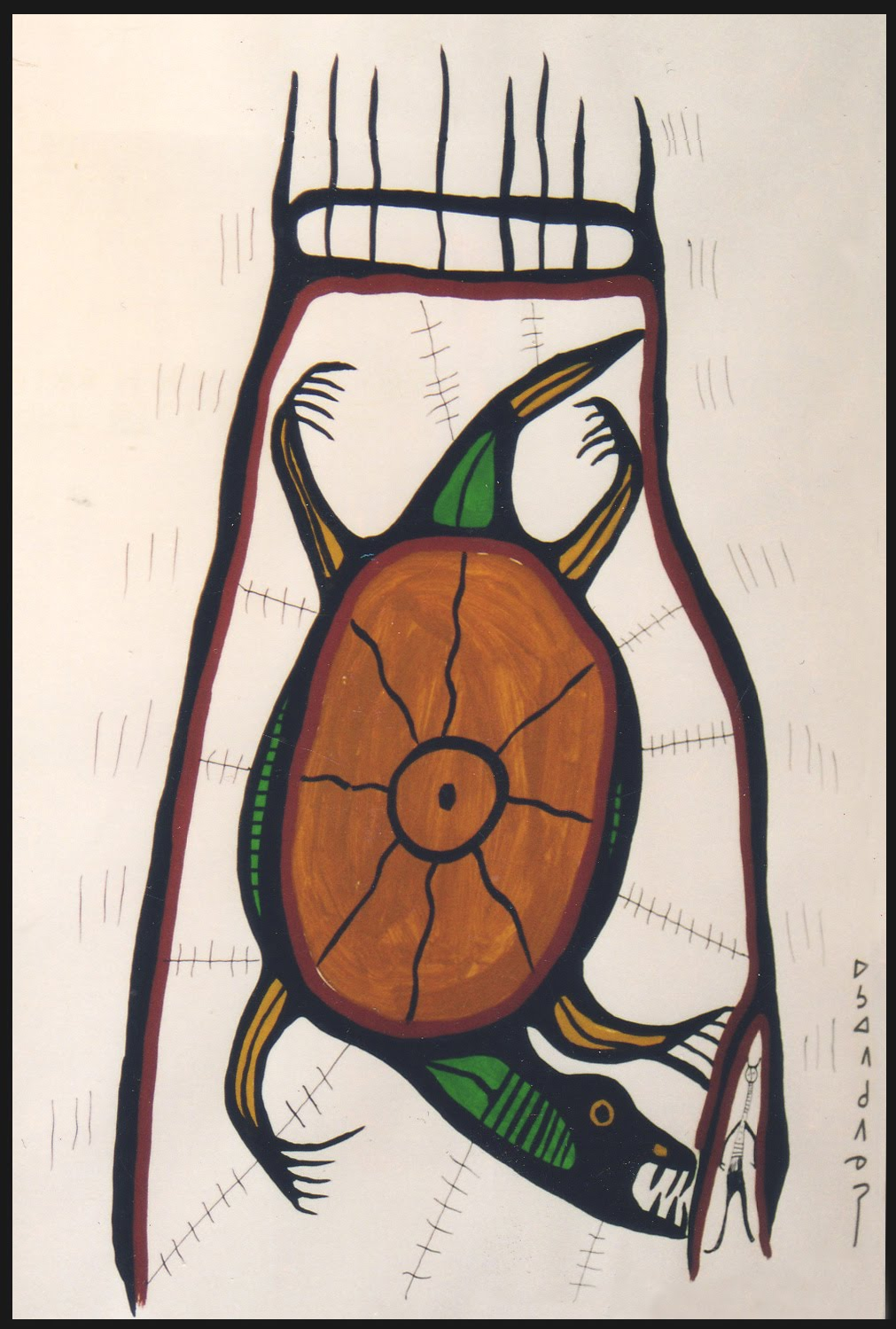 Untitled  [Shaking Tent] © 1960s Norval Morrisseau /Click on image to Enlarge/ - - The lines of movement in Norval Morrisseauu0027s art represent physical ...  sc 1 st  norval morrisseau blog & NORVAL MORRISSEAU BLOG: Symbology of Norval Morrisseauu0027s Art (Part IV)