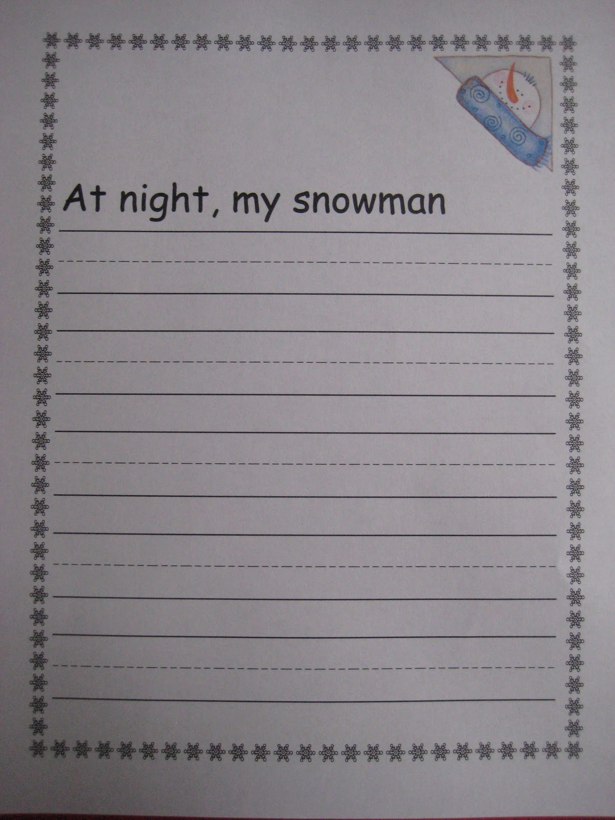 Finally In First Snowmen At Night