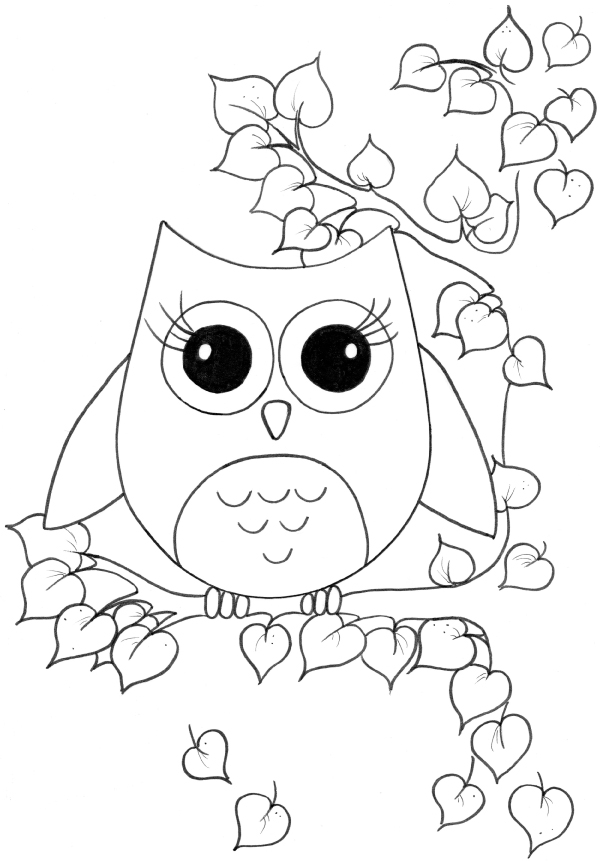 a owl coloring pages - photo #14
